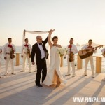 Elegant Black & White Wedding at Sunset da Mona Lisa