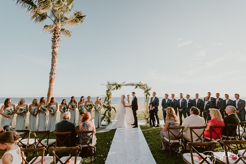 Nicole & Trent's Cabo Destination Wedding at Pueblo Bonito Sunset