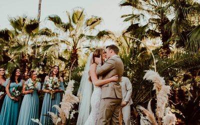 Jessie & Justin: A modern wedding with bohemian touches in Baja Acre