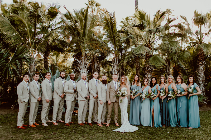Jessie and Justin with Maids of Honor and Best Men