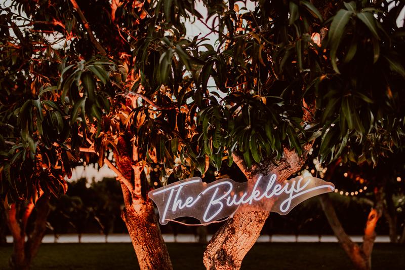 The Buckleys Wedding Neon Sign