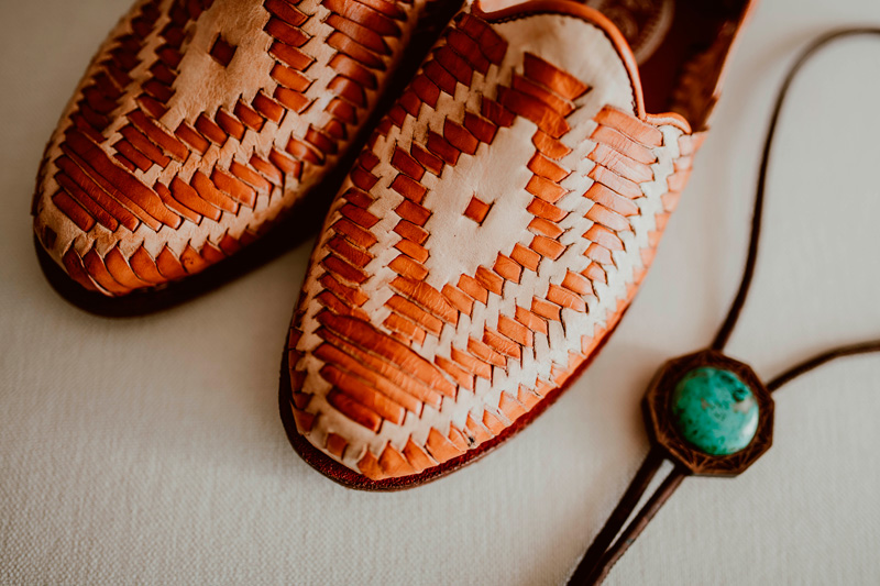 The Groom's shoes and tie