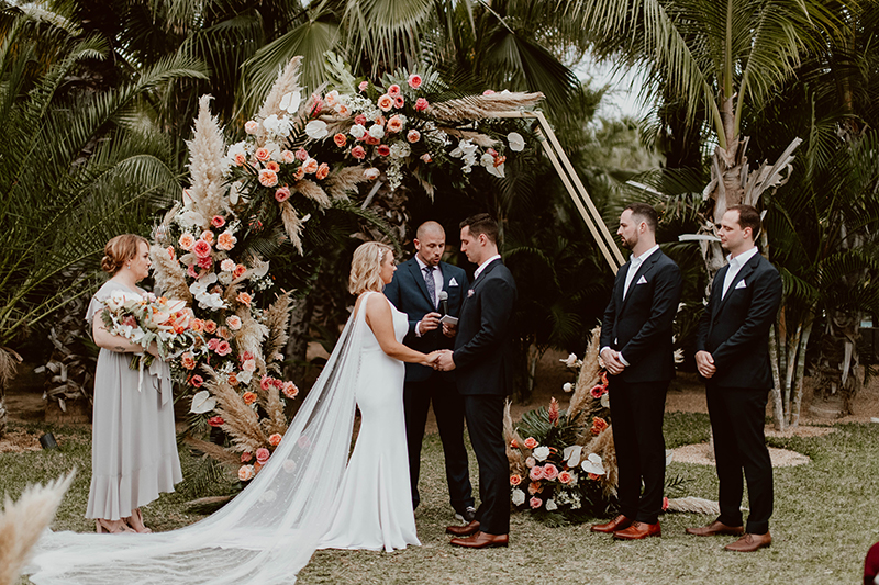 Bride and Groom Pronouncing Vows