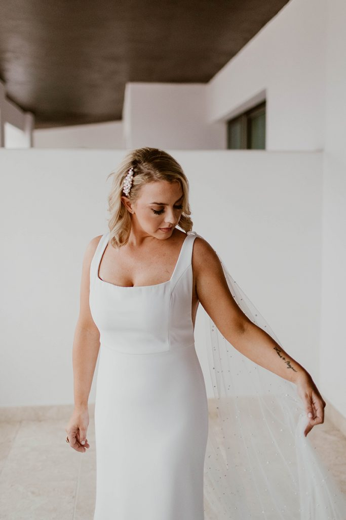 The Bride in her Beautiful Dress