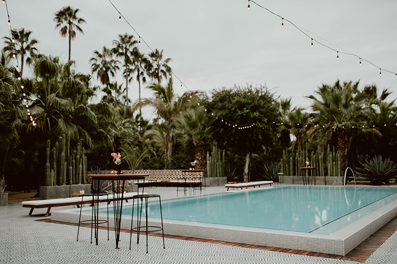 Acre Baja Wedding Reception By the Poolside