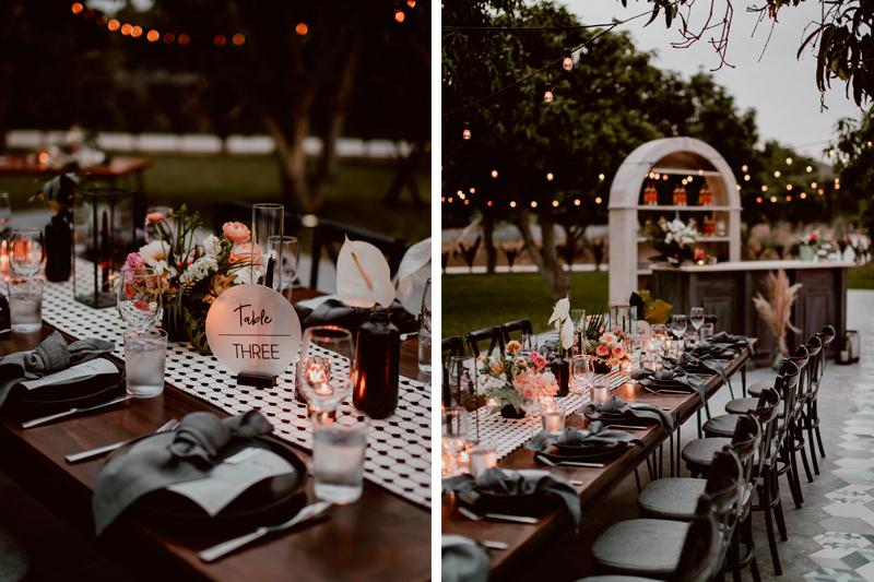 Elegant Table distribution and decor