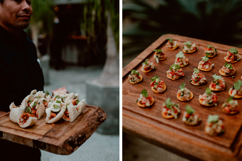 Haute Cuisine Appetizers at Maggie and Chase Wedding