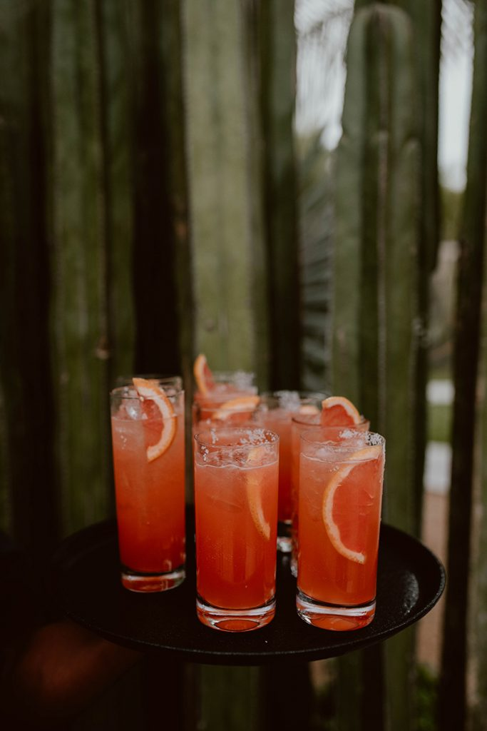 Refreshing drinks at Maggie and Chase Cabo Wedding