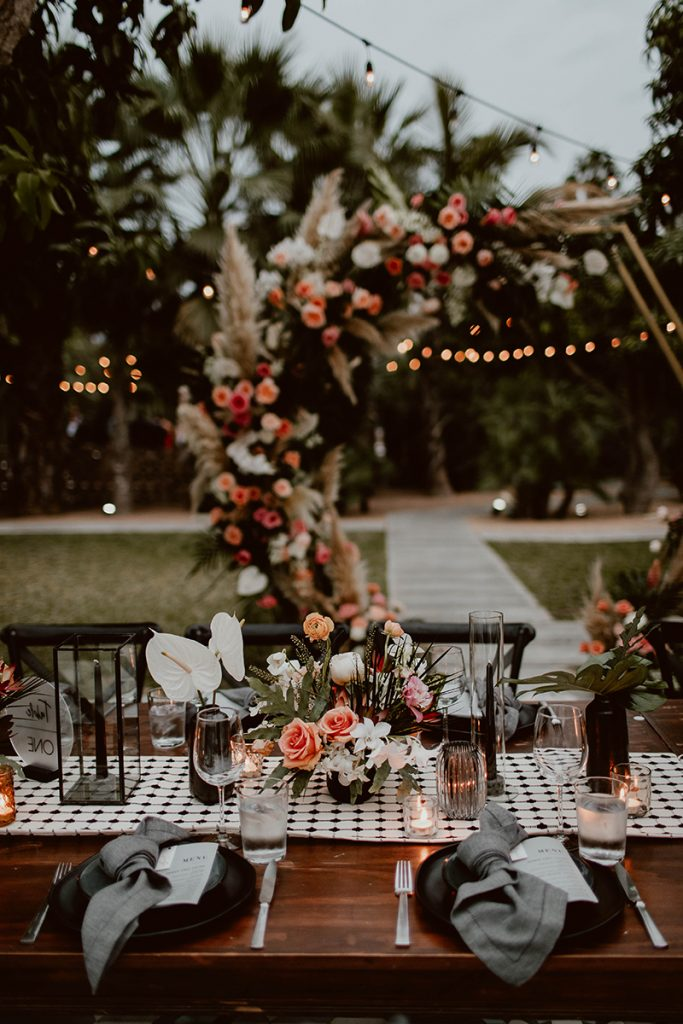 Elegant table setting at Maggie and Chase reception