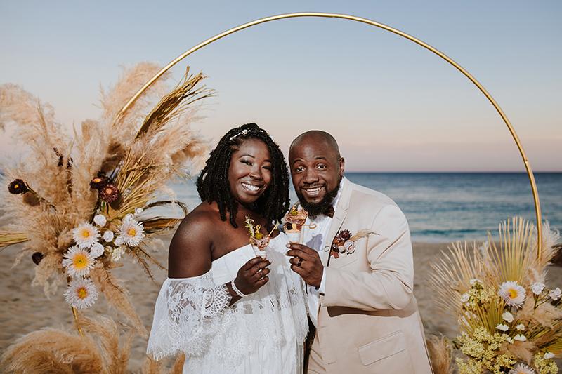 Brittany & Ryan: An Intimate Boho Beach Wedding in Los Cabos