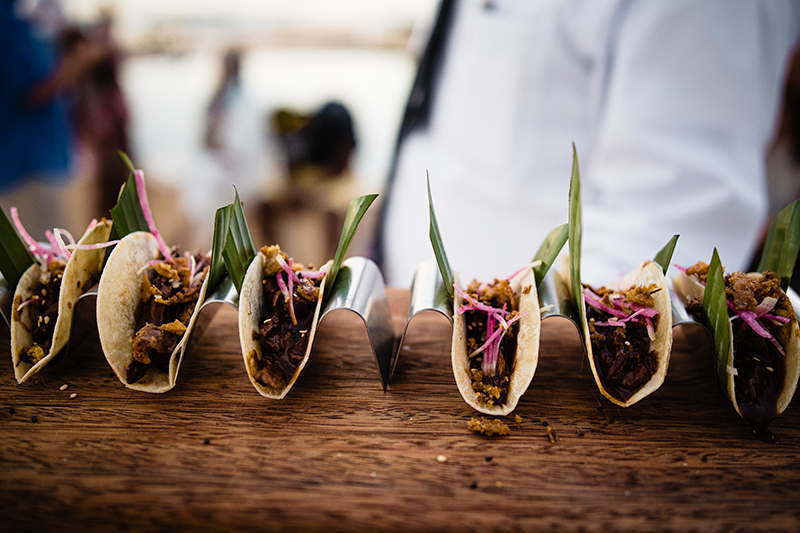 Appetizers: tacos