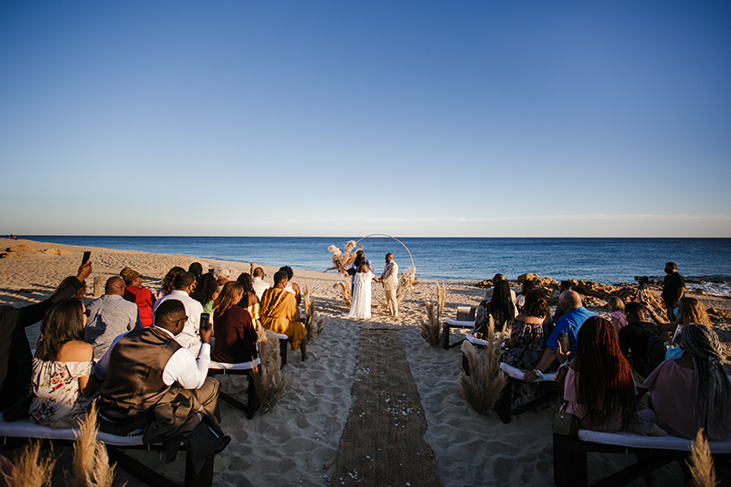 The wedding ceremony at the beach