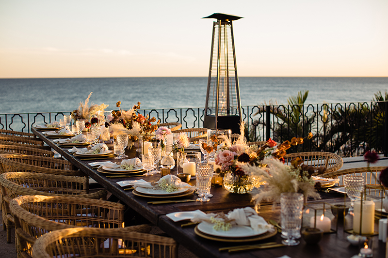 Table with an ocean view