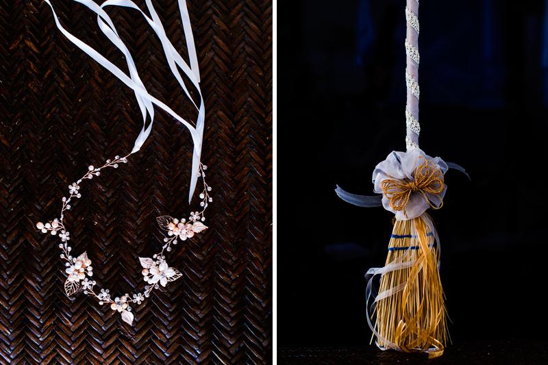 The bride's accesories