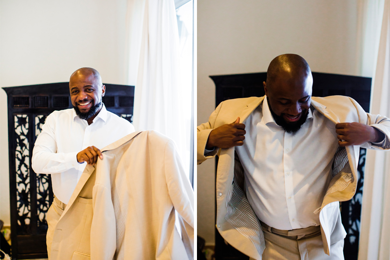 The Groom getting ready for the big day