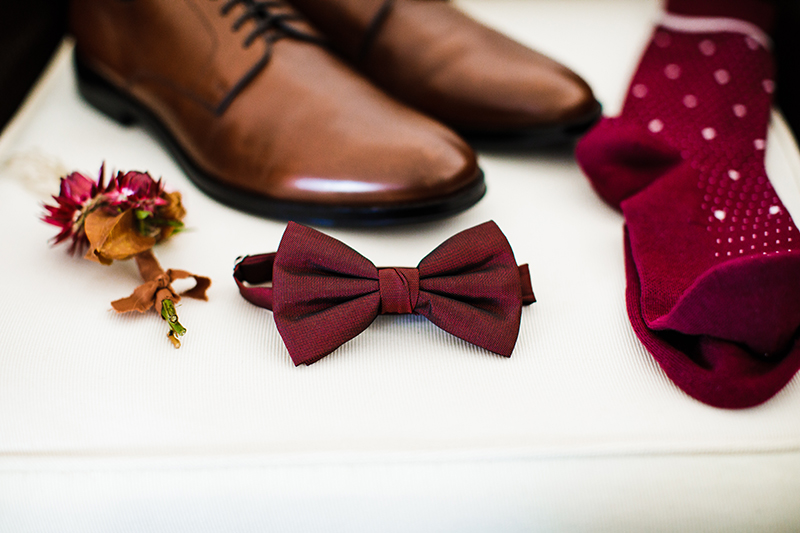 The Groom's Tie and Shoes